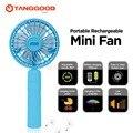 Tanggood mini ventilador recarregável 2000 mah banco de potência portátil cool summer 360 girar para o telefone móvel