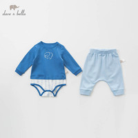 DBH10075 dave bella spring newborn baby romper+ pants clothing sets infant toddler clothes baby 100% cotton jumpsuits