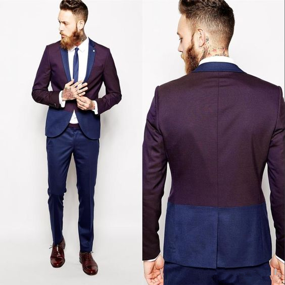 Online Buy Wholesale navy blue and burgundy suit from China navy ...