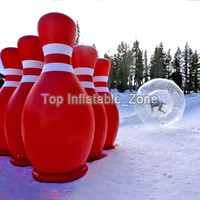 Outdoor Sports Game 70Inch 1.8m Giant Inflatable Bowling Pin with Ring Game Large Inflatable Pins