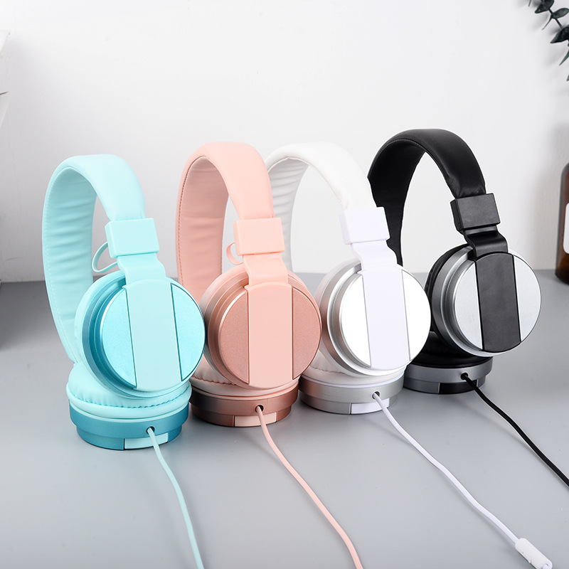 Luxury Headband Stereo Headphones w/ Microphone Portable Wired Rose Gold Headset for Girls Mobile Phone iPhone Samsung Gift keenion kos 588 wired stereo headset headphones w microphone black 3 5mm plug