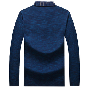 Image 2 - Plus 8XL 6XL Father Clothes Simple Comfortable Style Mens Sweater Long Sleeve Lapel Leisure Pullover Men Pull Homme Sweaters