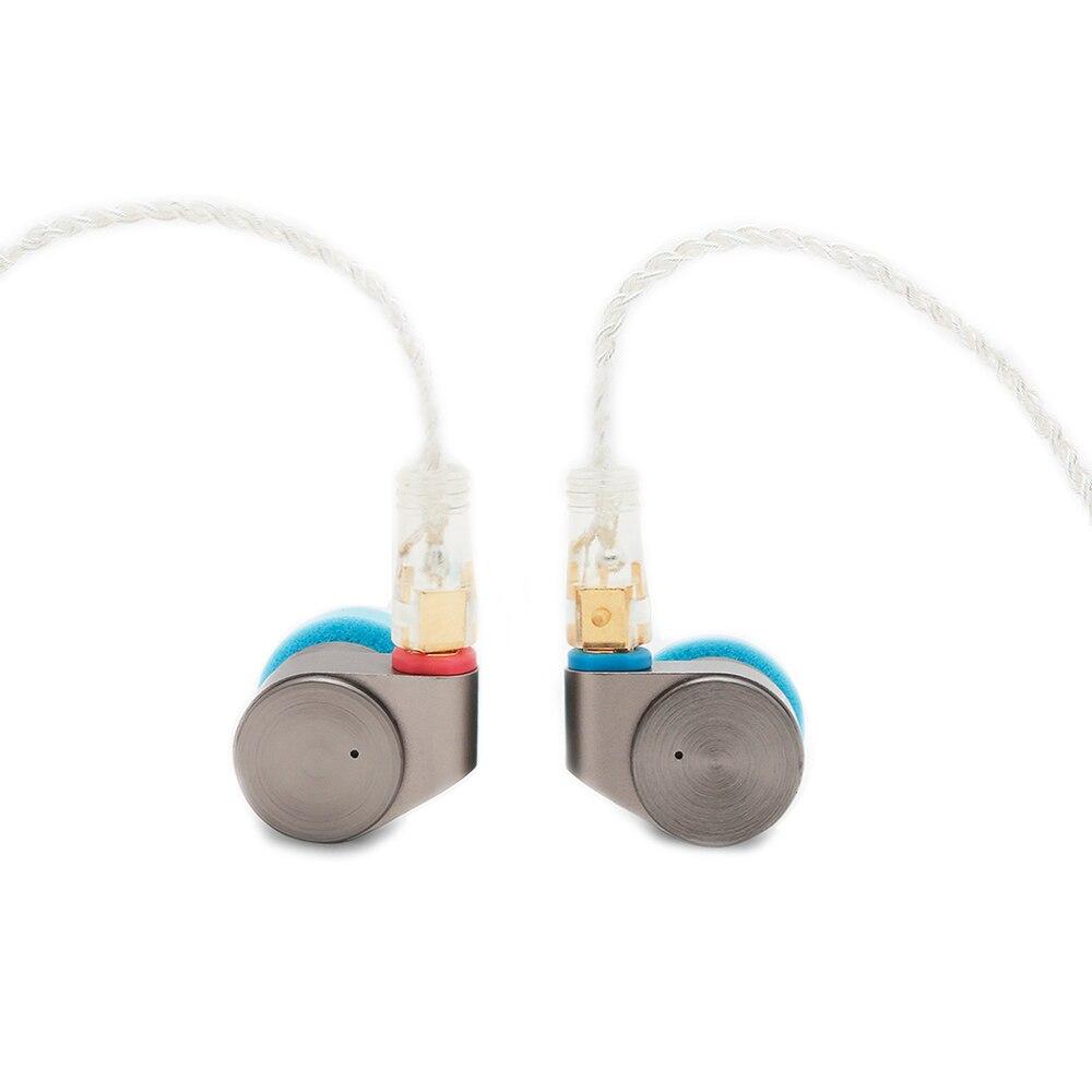 Étain Audio T2 Haute Résolution Double Dynamique Pilotes In-Ear Écouteurs HiFi Audiophone Métal Écouteurs avec MMCX Câble Détachable
