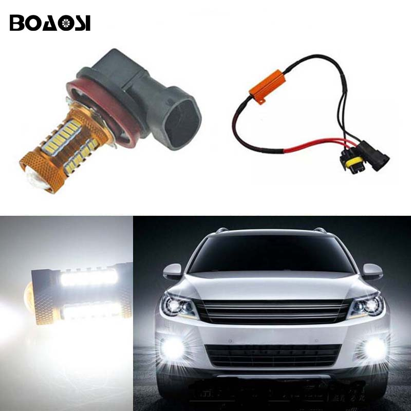 BOAOSI 1х н8 Н11 светодиодный проектор туман света лампы нет ошибка для Audi В5 В7 ТТ А3 А4 А5 А6 С5