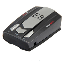 New E8 360 degree Full Band Russian / English Radar Detector Scanning Voice Anti-Police warning vehicle speed detector X K KU Ka