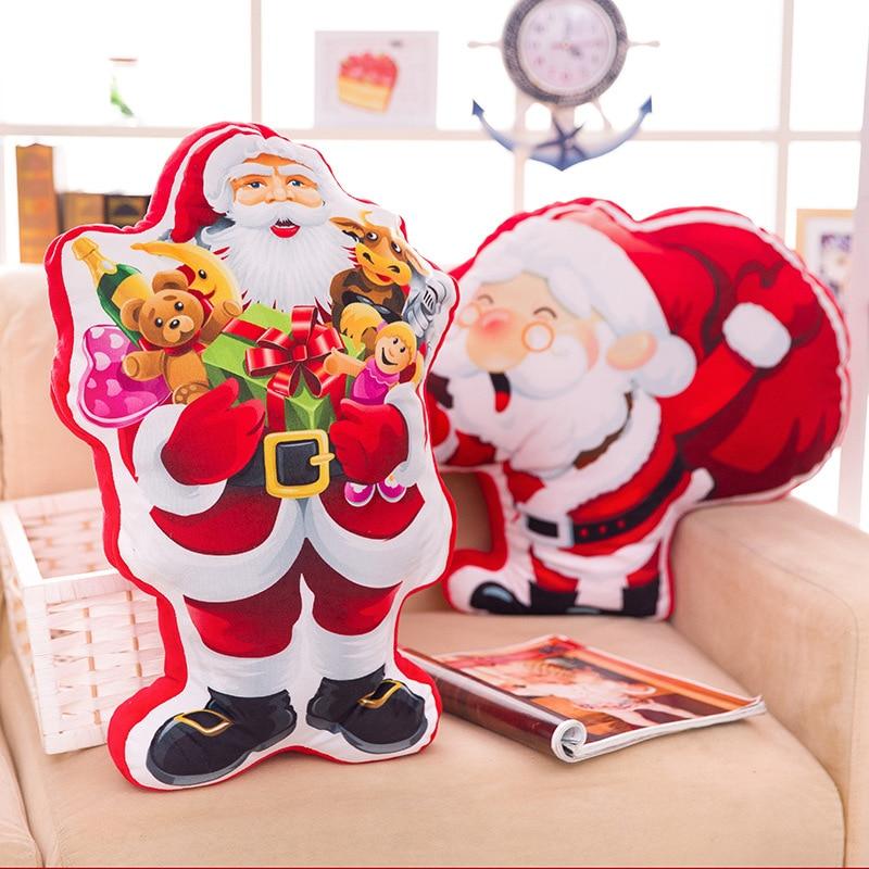 55cm karácsonyi ajándék Santa Claus Doll plüss játék Lovely Cartoon Mikulás párna / párna lakberendezés