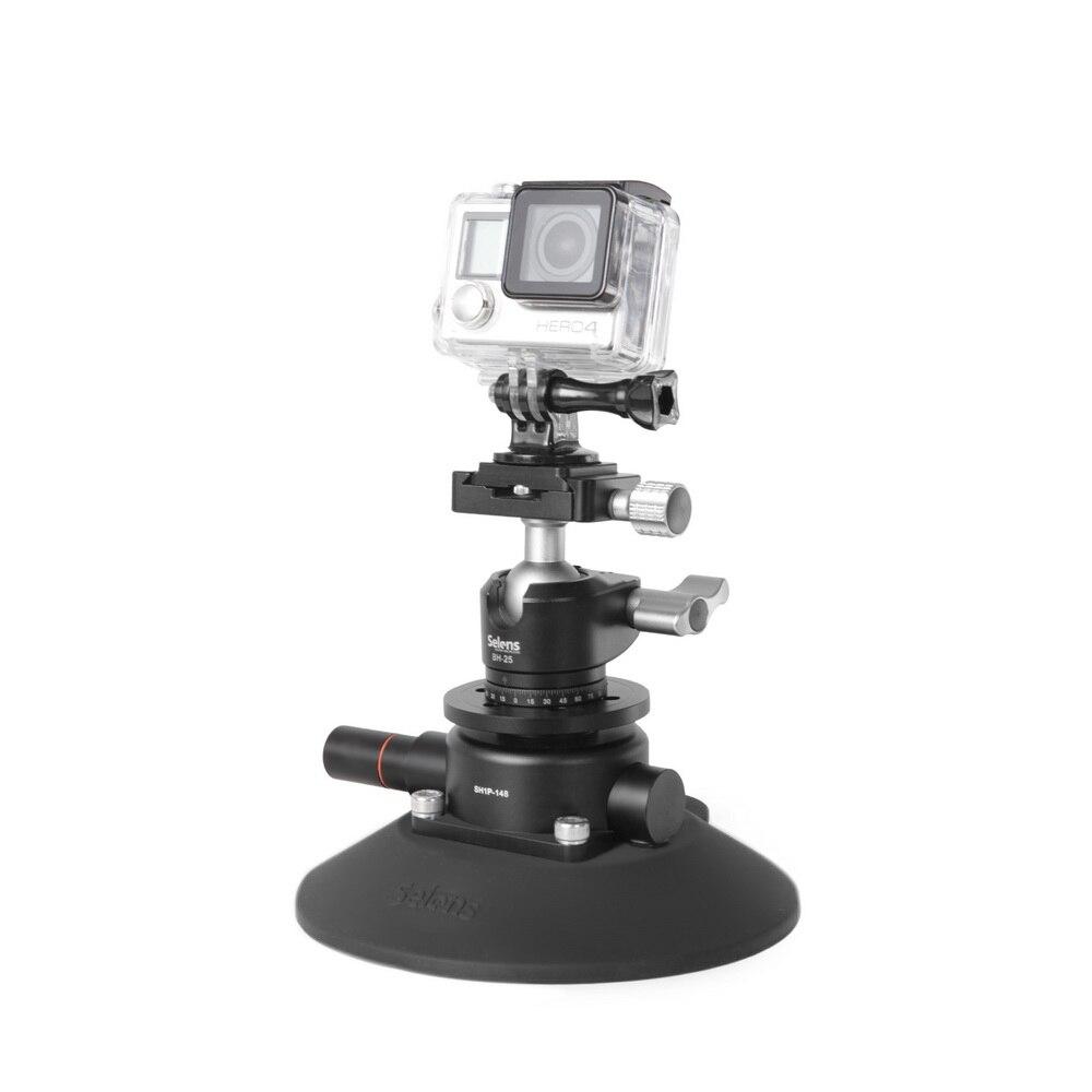Selens 5,9 pulgadas Power Grip ventosa de vacío sistema de montaje de cámara para cámara DSLR Video teléfono inteligente Gopro - 3