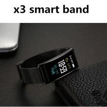 ZoneQuality Фитнес группа X3 умный браслет Bluetooth Smart Сердечного ритма крови Давление монитор IP68 водонепроницаемый напоминание