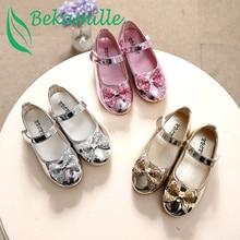 Enfants Chaussures Filles Sandales paillettes Arc Princesse chaussures en cuir  Chaussures de danse
