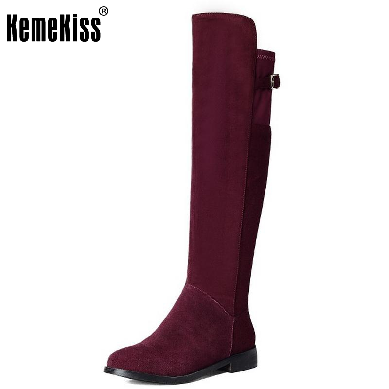 Vintage Women Genuine Leather Knee High Boots Square Heeled Fashion Zipper Round Toe Winter Snow Boots Women Shoes Size 33-40 allbitefo golden zip decorate fashion spring winter snow shoes genuine leather pu women boots casual knee high boots size 33 43