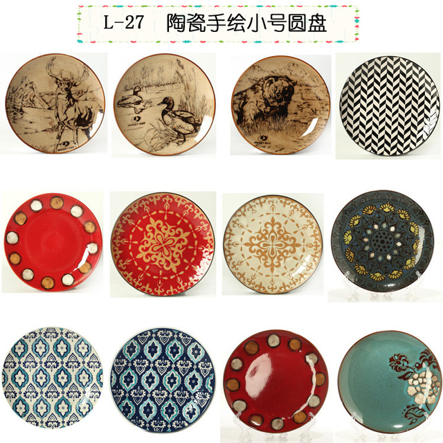 Wholesale 8.5-inch disk in hand-painted decorative hanging plate number plates ceramic dish  sc 1 st  AliExpress.com & Wholesale 8.5 inch disk in hand painted decorative hanging plate ...