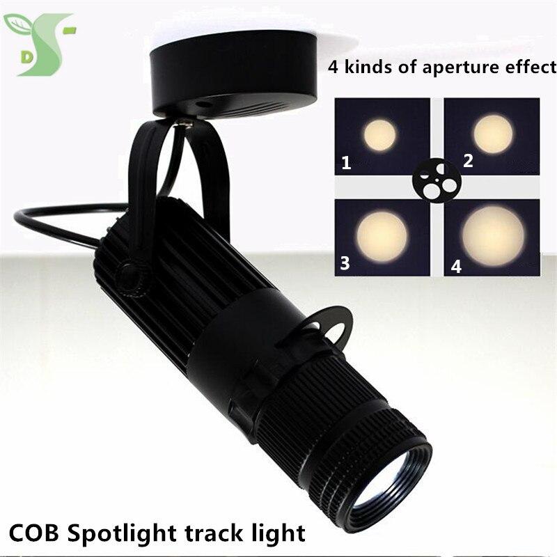 3 watt 5 watt 7 watt 10 watt cob strahler FÜHRTE Lampe Zoom licht beleuchtung 4 arten von lichteffekten decke typ schiene typ