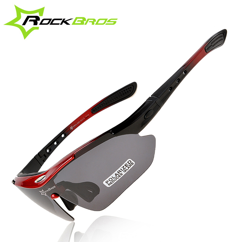 fdcb6312626 ROCKBROS Polarized Cycling Glasses Outdoor Sports Bicycle Sunglasses Bike  Goggles Cycling Eyewear Myopia Frame 5 Lenses Glasses-in Cycling Eyewear  from ...