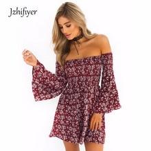 womens dress mini dresses slash neck fit and flare one-piece summer beach fancy floral dress vestidos vintage цена 2017