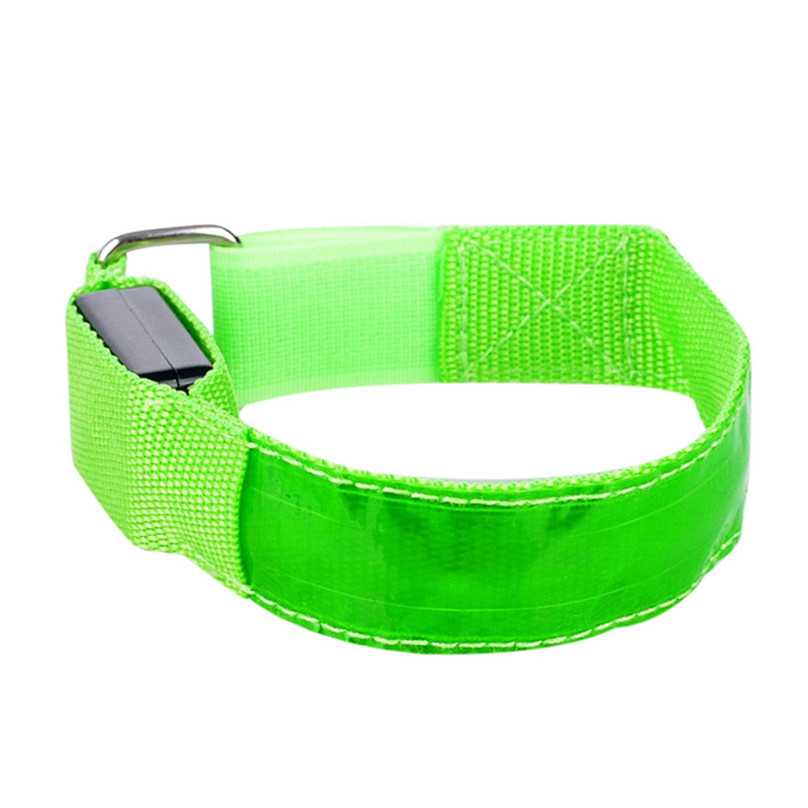 Reflective LED Light Arm Armband Strap Safety Belt For Night Running Cycling Arm Warmers outdoor equipment #3F13 (10)