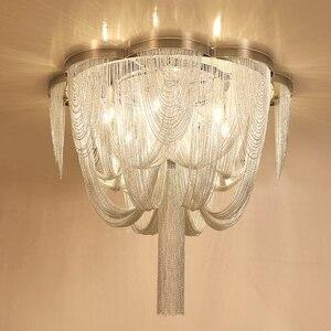 Image 3 - Included LED Bulb E14 Base Fashional Modern Pendant Light Aluminum Chains Pendant Lamps For Dining Room/Hotel/Bedroom