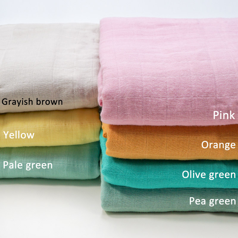 Muslinlife New Style Solid Newborn Baby Blanket Infants Baby Swaddle Wrap Blankets Bamboo Cotton Fabric Blanket Dropship
