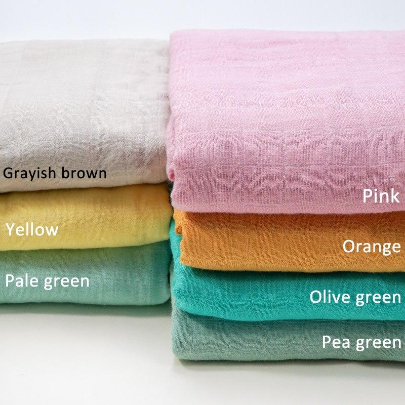 Muslinlife nouveau Style solide nouveau-né bébé couverture nourrissons bébé couvertures à langer bambou coton tissu couverture livraison directe