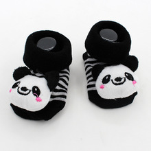 Cute animal Cotton Baby Socks For Newborns baby Girl Boy Gift Anti Slip With Rubber Soles Child free shipping