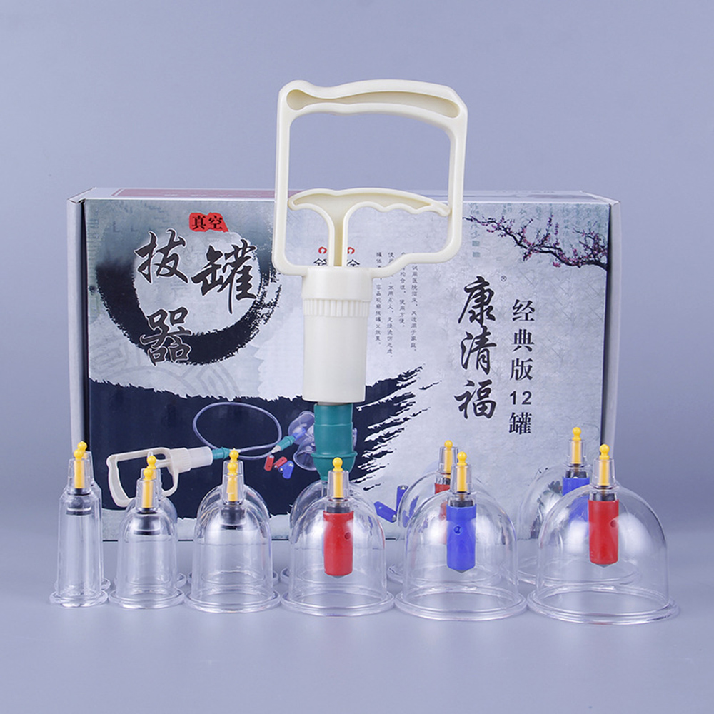 6 12 Cans Home use Suction Cups Cupping Set Chinese Acupuncture Therapy Magnetic Massage thickerJars for