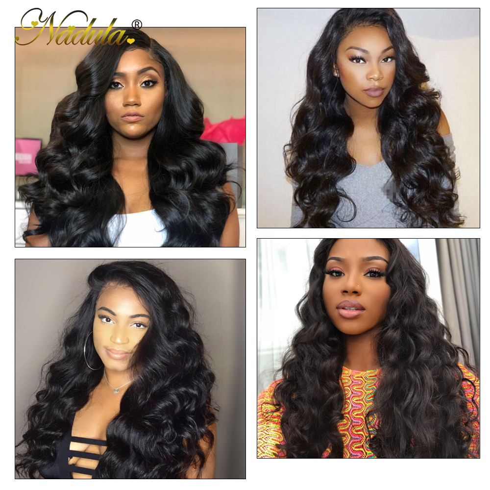 Nadula Hair 13*4 Ear to Ear Lace Frontal With Bundles  Body Wave With Closure 8-30inch  s 6