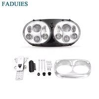 Faduies 5.75 мотоцикл двойной светодиодный проектор день Фары для автомобиля сборки для harley роуд Glide daymaker проектор светодиодные фары
