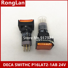 [ZOB] Progressive Alliance DECA lock switch P16LAT2-1AB 6V 12V 14V 24V 28V 110V 220V  large spot --10pcs/lot