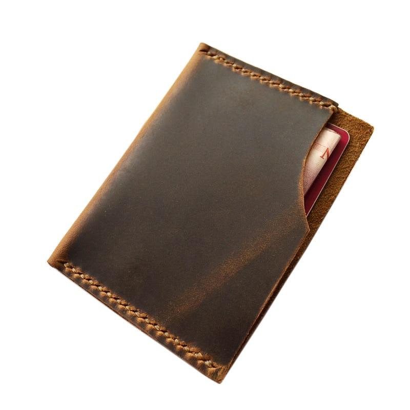 handmade genuine leather wallet for credit cards designer