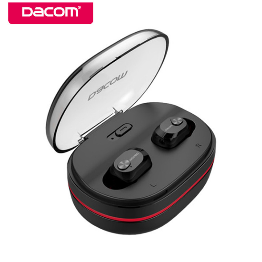Dacom K6H TWS Mini Handsfree Bluetooth Earphone True Wireless HiFi Stereo Earbuds Headset with Mic Charging Box for iOS android aimitek k2 true wireless bluetooth earphones tws earbuds mini stereo headset handsfree with mic charging bank retail package box