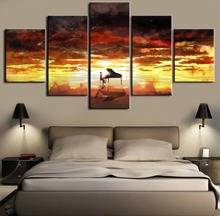 Your Lie in April Piano 5 Pieces Anime Modern Decorative Canvas Painting HD Print Art Decorations Wall  Decor