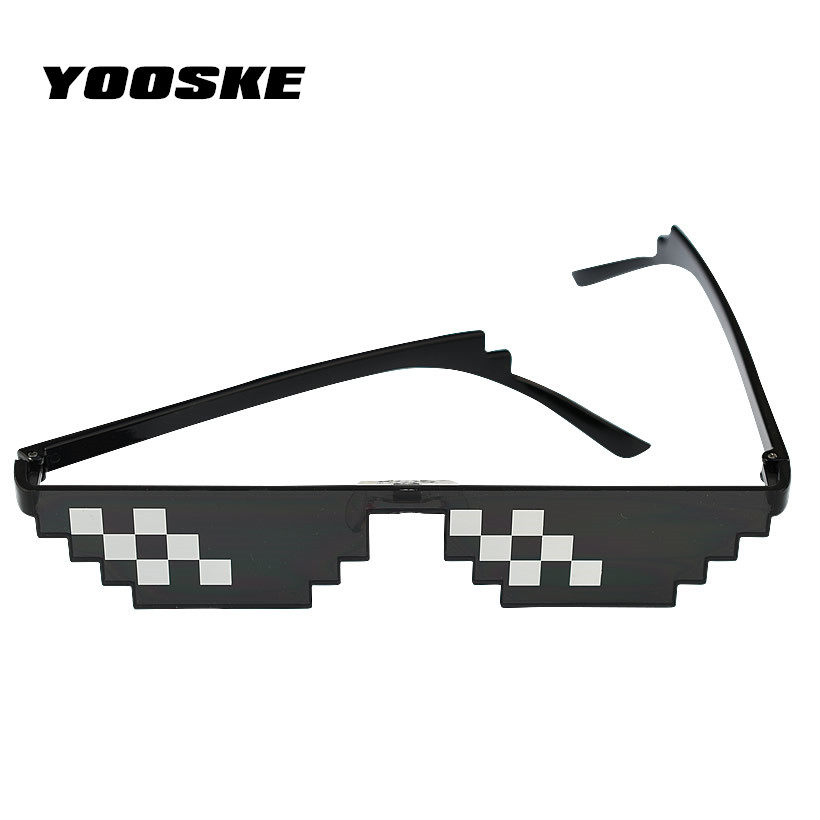 Apparel Accessories Straightforward Yooske Deal With It Sunglasses Men Minecraft Polygonal Thug Life Shades Masculine 8 Bits Style Pixel Be Yourself Glasses Ture 100% Guarantee Men's Glasses
