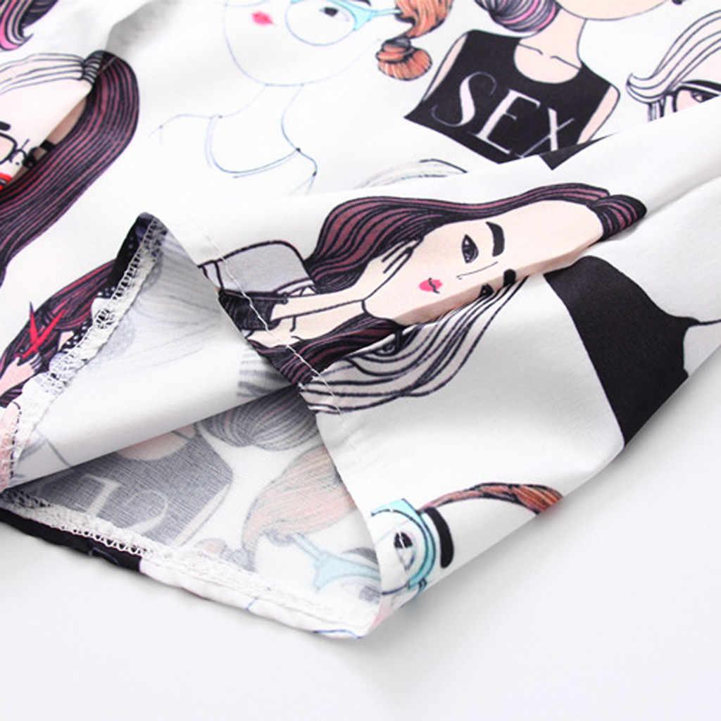 แฟชั่นผู้หญิงแขนยาวพิมพ์วินเทจเกาหลีเสื้อลำลองเสื้อหลวม # T2