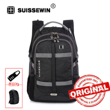 "Swisswin fashion 17"" laptop backpack big capacity men military bag daily travel bag case school mochila for Teenage Boy SW8350"