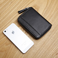LANSPACE wallet card holder genuine leather credit card holder famous brand coin purses holders