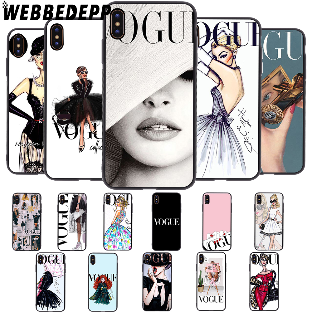 WEBBEDEPP VOGUE Girl Soft Case for iPhone 5 5S 6 6S 7 8 Plus X XS 11 Pro MAX XR Cover in Fitted Cases from Cellphones Telecommunications