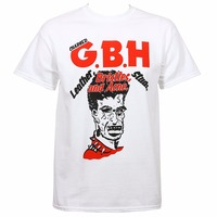 Charged GBH Men S Leather Bristles Studs And Acne T Shirt White Printed Summer Style Tees