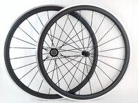 38mm Clincher 23mm Width Carbon Road Bike Wheels Aluminium Alloy Brake Surface Bicycles Wheelset 20 24