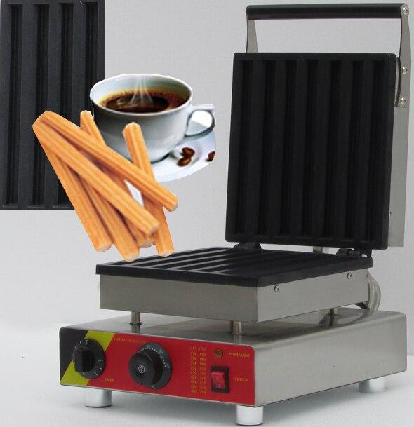 110V 220v Rectangle Waffle Maker Machine, Churros And Waffle Maker