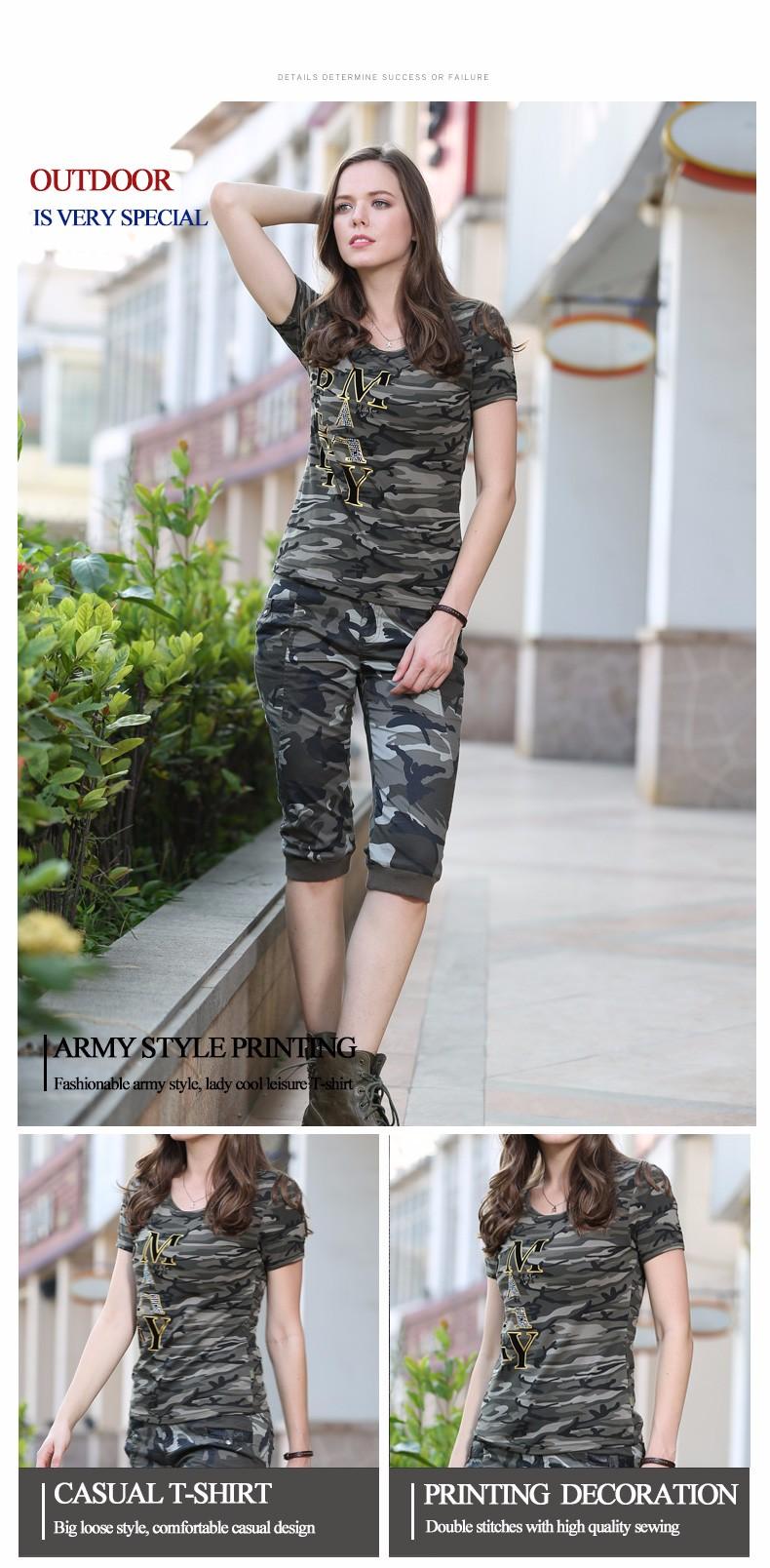 45d6c5b57ef74 High Quality T Shirt Women New Design Summer T Shirt Camouflage ...