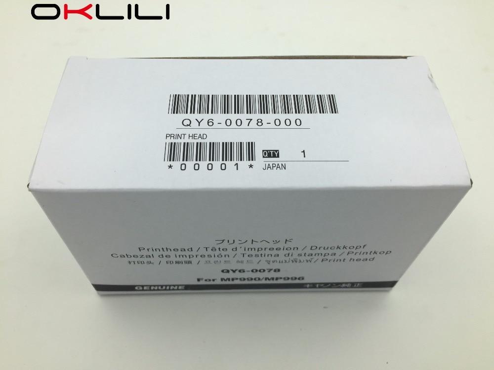 ORIGINAL QY6-0078 Printhead Print Head Printer for Canon MP990 MP996 MG6120 MG6140 MG6180 MG6280 MG8120 MG8180 MG8280 MG6250