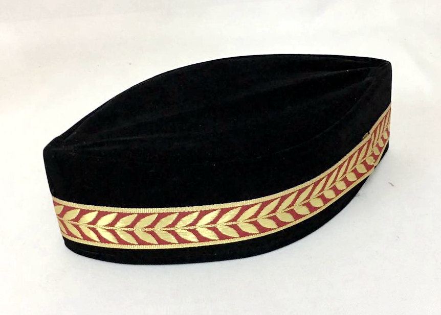 4pcs bag Muslim Men Cap Turban Black Islamic Hat (the Decorative Border  Random) Pleuche Can mix sizes 54-59 388bf4aab7f6