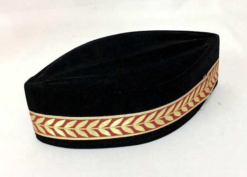 มุสลิมหมวก Turban สีดำหมวกอิสลาม (ขอบตกแต่งสุ่ม) pleuche สามารถ MIX ขนาด 54-59 ประมาณ 52.5 ~ 58 ซม