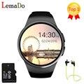 [Auténtica] kw18 bluetooth smart watch smartwatch teléfono sim soporte de tarjeta tf de la pantalla completa del ritmo cardíaco para apple gear s2 huawei