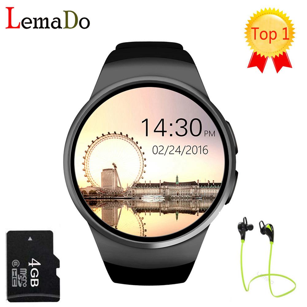 Prix pour [Véritable] KW18 Bluetooth smart watch plein écran Soutien SIM TF Carte Smartwatch Téléphone Coeur Taux pour apple vitesse s2 huawei
