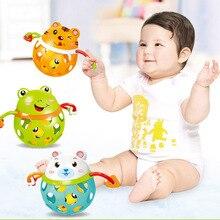 Купить с кэшбэком Cute Baby Rattle Animal Frog Tiger Ball Teether Infants Toy Best Baby Toys YJS Dropship