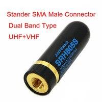אנטנה baofeng להקת SRH805S כפול UHF + VHF אנטנה SMA זכר עבור Baofeng UV3R UV100 לינטון LT6100 LT6188 YAESU / ורטקס VX-6R רדיו (3)