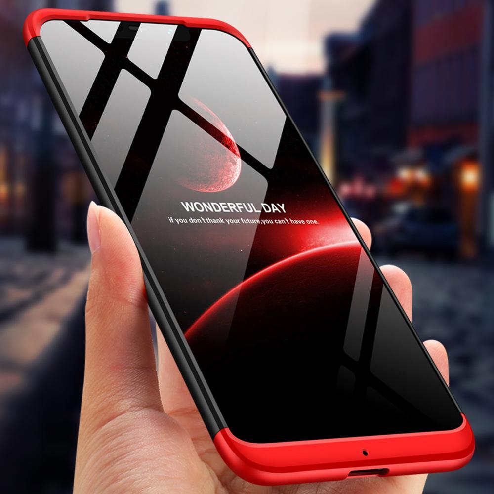 Чехол GKK для Xiaomi Pocophone F1, чехол 3 в 1, 360 полная защита, противоударный жесткий чехол из поликарбоната для pocophone f1, оболочка