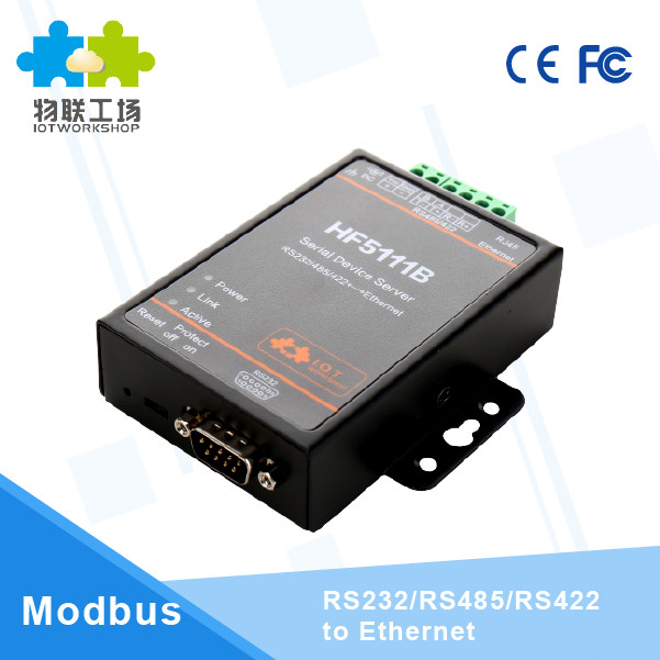 Official HF5111B RJ45 RS232/485/422 Serial To Ethernet Free RTOS Serial 1 Port Server Converter Device Industrial dtu h100 wifi serial uart server rs232 rs485 to rj45 wifi ethernet converter wireless serial port module for smart industry q183
