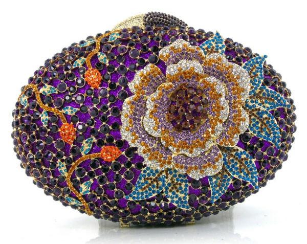 ФОТО CB0133-11 2016 new design hot sale elegant and luxury Rhinestones African Handbag for wedding/party
