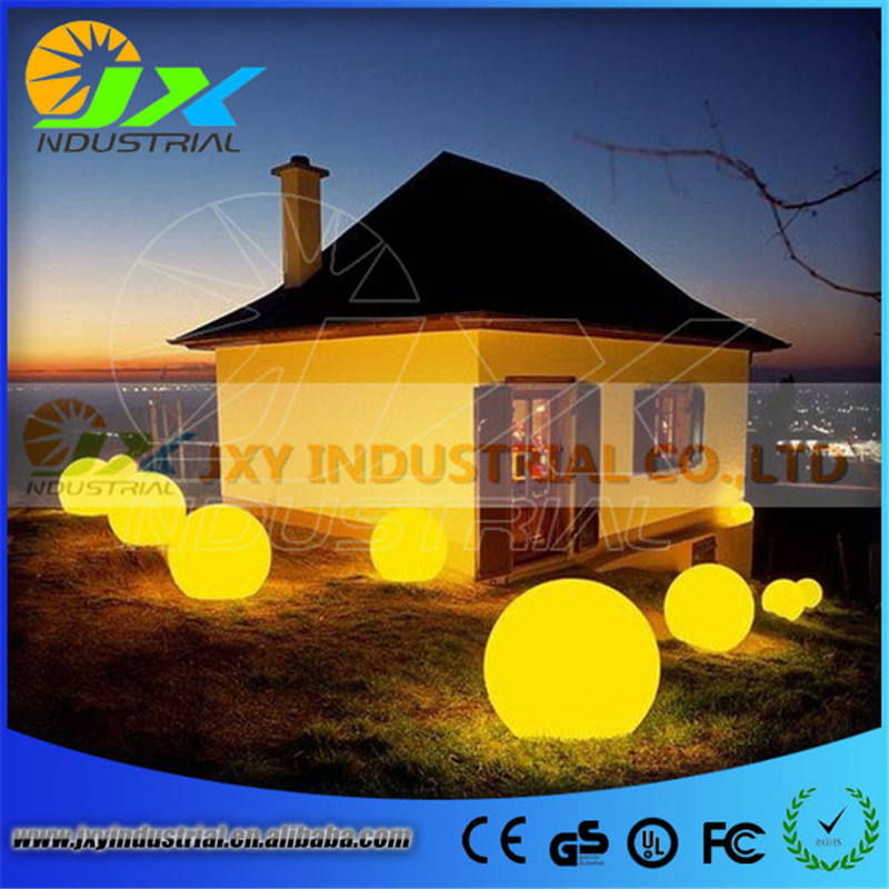 grass lawn path lamp light / led outdoor floor lamp waterproof IP65 rechargeable PE material round balls light